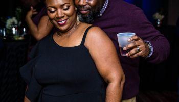 Smiling Couple Dancing Nightclub