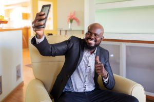 Self-Confident African Businessman at Home