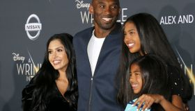 Kobe Bryant, Vanessa Bryant, Gianna Maria Onore Bryant and Natalia Diamante Bryant at the Los Angeles premiere of 'A Wrinkle In Time' held at the El Capitan Theater in Hollywood, USA on February 26, 2018.