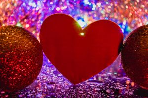 Heart with festive decoration