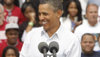 President Obama Speaks On His Jobs Plan At Labor Day Speech In Detroit