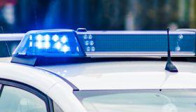 Blue Lights Of Police Car