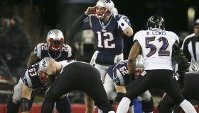 AFC Championship: Baltimore Ravens Vs. New England Patriots