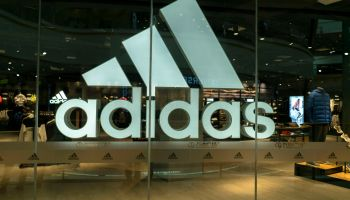 Adidas shop in a Wanda department store. Adidas's third...